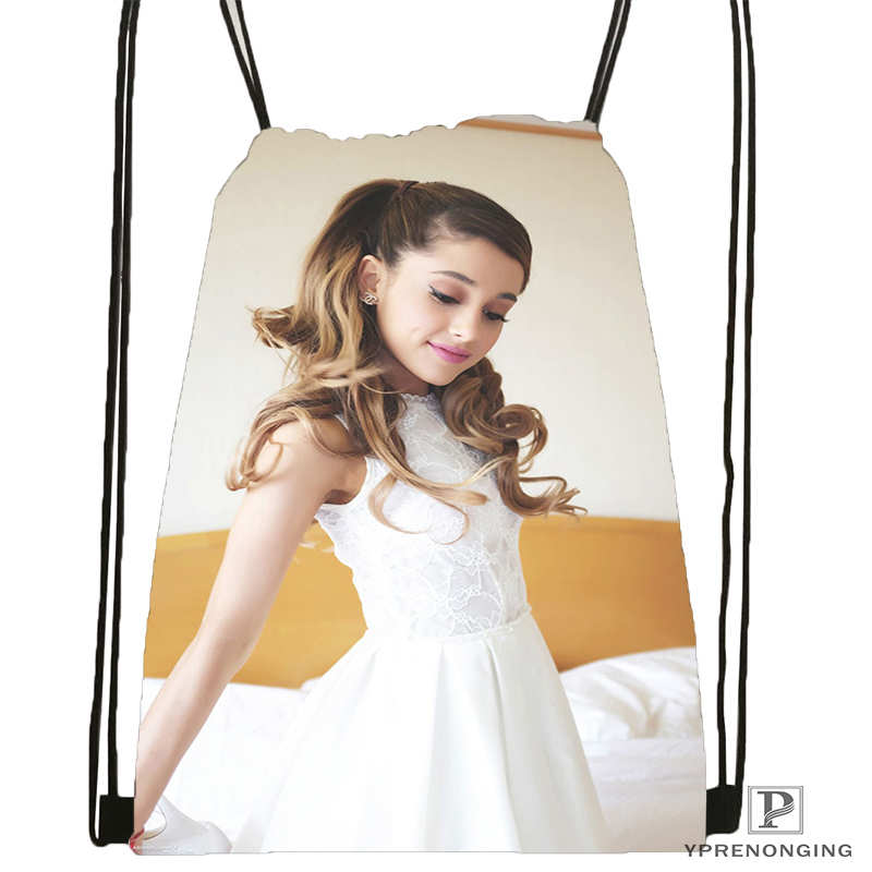 Custom Ariana-Grande@1 Drawstring Backpack Bag For Man Woman Cute Daypack Kids Satchel (Black Back) 31x40cm#20180611-03-157