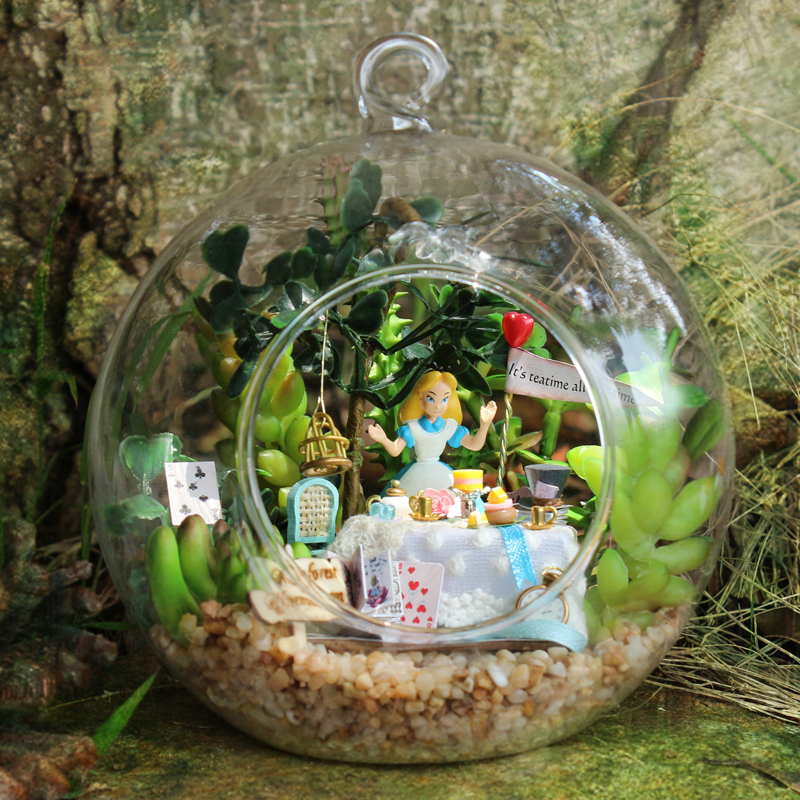 In Knowledgeable Hot Sale Diy Glass Ball 3d Miniature Assemble Model Creative Diary Building Dollhouse Kits With Cute Funitures Festival Gifts Superior Quality