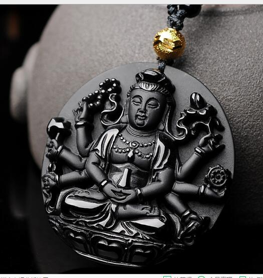 Bao wu light obsidian matte green tara guanyin pendant diy real bao wu light obsidian matte green tara guanyin pendant diy real stone obsidian jewelry necklace charms mozeypictures Gallery