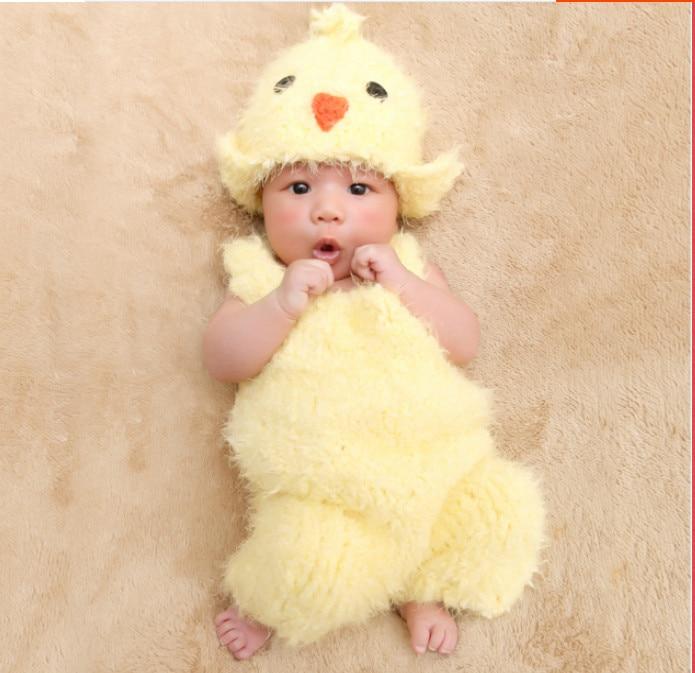 väike tibu beanie koos romper armas Chunky Knit Baby kana Hat romper - Beebiriided
