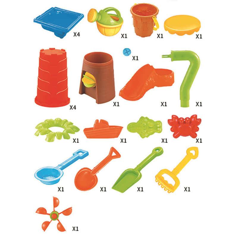 Juego de mesa de playa para niños, piscina de arena de verano, juegos de agua, juego de juguetes, Color aleatorio, gran agua y arena para bebés dragado de la herramienta