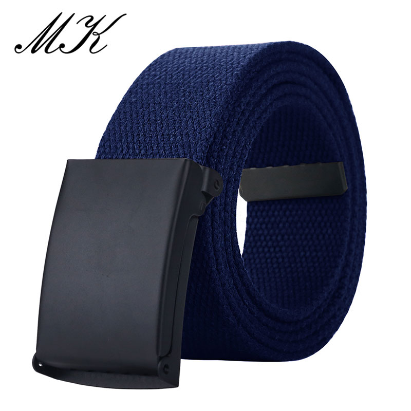 MaiKun Canvas Belts For Men Military Tactical Male Strap Metal Slider Buckle Men Belts For Jeans Pants