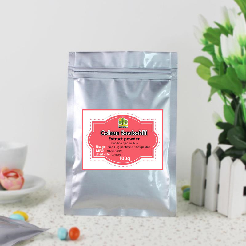 100g-1000g High-quality Pure Coleus Forskohlii Extract Powder,PLECTRANTHUS BARBATUS,antianaphylaxis,free Shipping