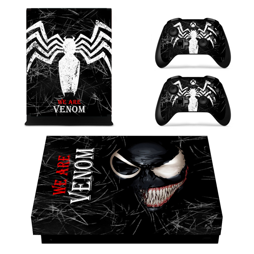 Spider-man Microsoft Xbox One X Console Controller Skin Cover Sticker Decal Faceplates, Decals & Stickers
