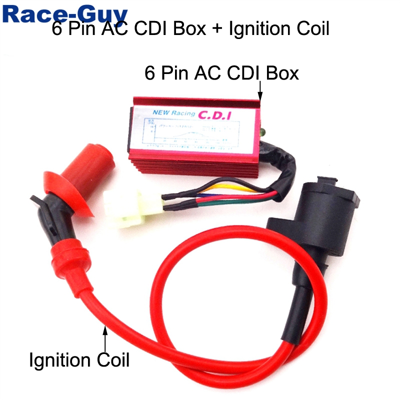 gy6 racing cdi wiring diagram ac red racing ignition coil 6 pin wires ac cdi box for chinese gy6  6 pin wires ac cdi box for chinese gy6
