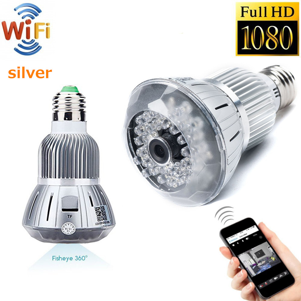 Wifi IP Camera Indoor Bulb Light Camera Home Security CCTV Surveillance Micro Camera 720P 1080P Mini Smart Night Vision HD CAM цена