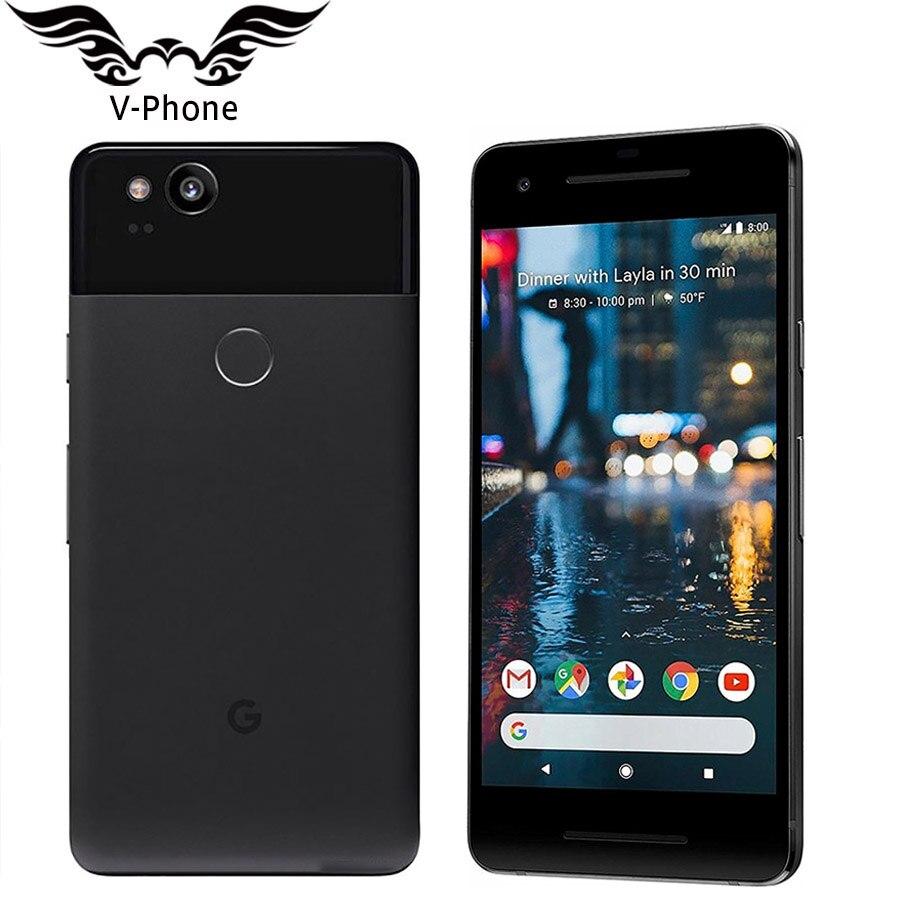 D'origine UE Version Google Pixel 2 4G LTE téléphone mobile android 5.0 ''Snapdragon 835 Octa Core 4 GB RAM 64 GB 128G ROM D'empreintes Digitales