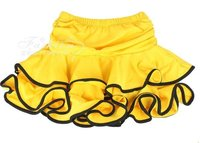 Freeshipping Child Latin Perform Skirt 6 13T Kids Stage Wear Girl Dance Dress