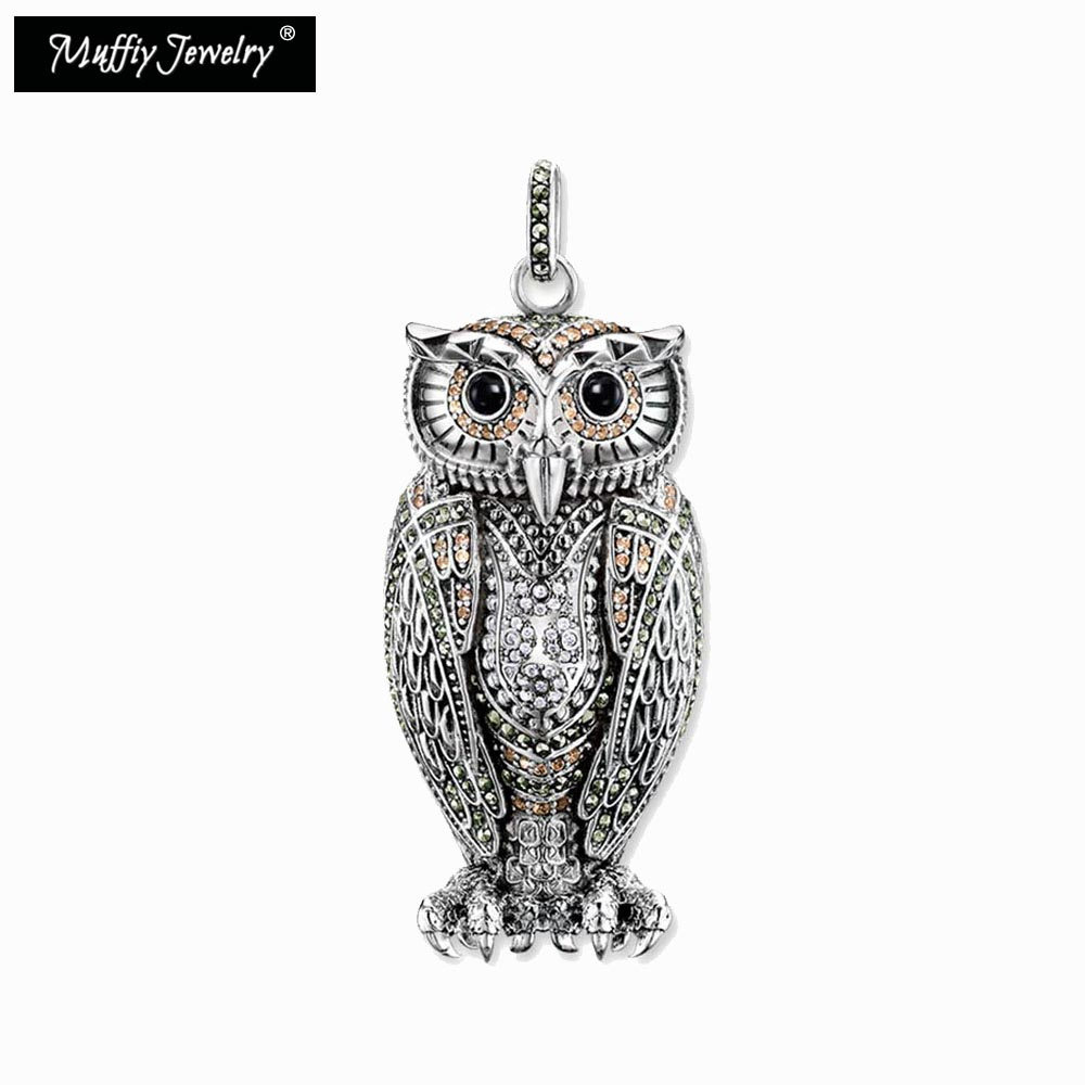 The Queen of The Night Owl Necklace Pendant,925 Sterling Silver,Blackened Silver,Thomas Style,Good Jewerly,Ts Gift,Super Deals ...