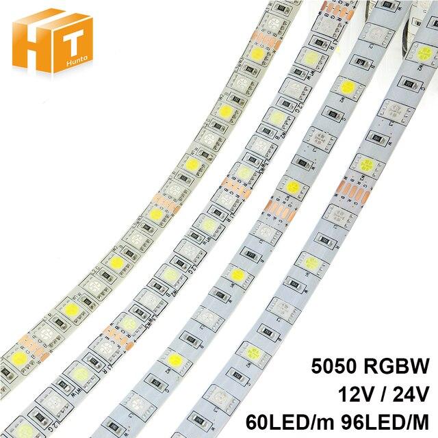 LED Streifen 5050 RGBW DC 12 V/24 V Flexible LED Licht RGB + Weiß/RGB + Warm weiß 60 LED/m 96 LED/m 5 mt/los.