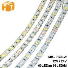 LED Strip SMD 5050 RGBW 12V flexible light RGB+White / Warm White,60Leds/m waterproof ip65 Strip,5m/lot