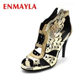 Enmayla summer high heels shoes woman gladiator sandals women pumps fashion open toe wings sandals gold.jpg 250x250