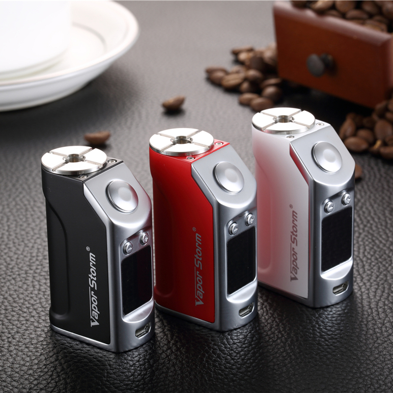 E-Cigarette mod Vapor storm MiNi 50W mod TC Temperature Control 1200mah Vape Hookah vaporizer Electronic Cigarette mod