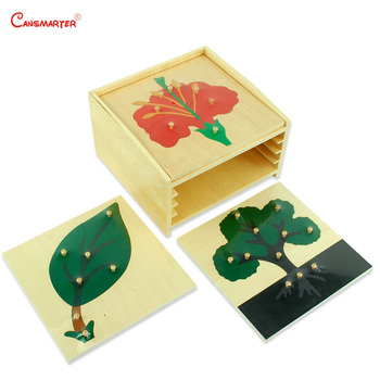 Wooden Set Cabinet With Plants Puzzles Knob Montessori Toys Educational Toys Children Kids Puzzles Teaching Aids Kids BO001-3 montessori wooden puzzles toys for kids educational children puzzles board animal fruit gifts toys wholesale dropshipping
