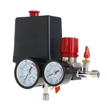 цена на 1Set 120PSI Air Compressor Pressure Valve Switch Manifold Relief Pressure Regulator Gauge New 2019