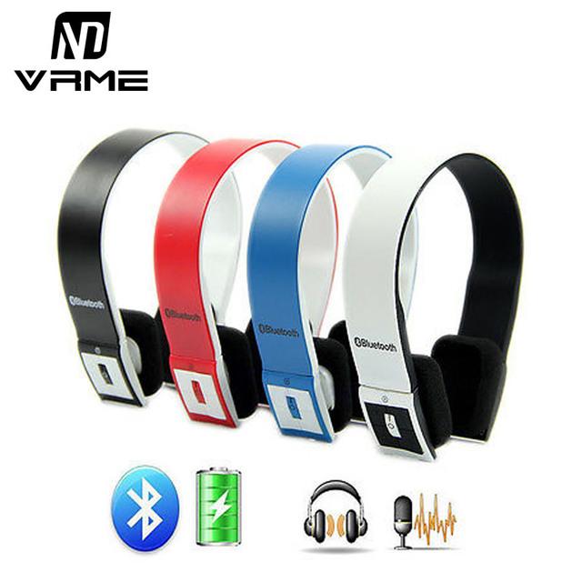 Vrme bluetooth auriculares auriculares inalámbricos y auriculares con micrófono con cancelación de ruido estéreo diadema auricular para iphone 7