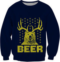 Ugly Christmas Sweatshirt Beer Funny Christmas Clothing Gift Unisex Christmas Fashion Jumper Men Women High Quality