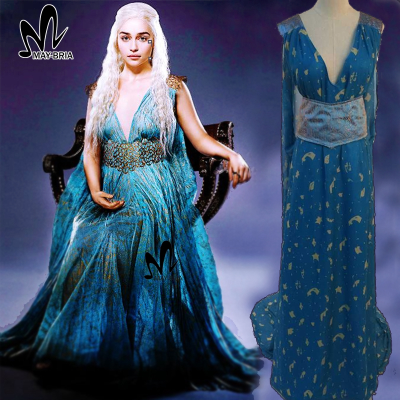 Game of Thrones A Song of Ice and Fire Daenerys Targaryen cosplay costume Halloween costumes adult women princess Daenerys dress game of thrones a song of ice and fire 1 1 resin shield bar decoration cosplay props action figure collectible model toy w290