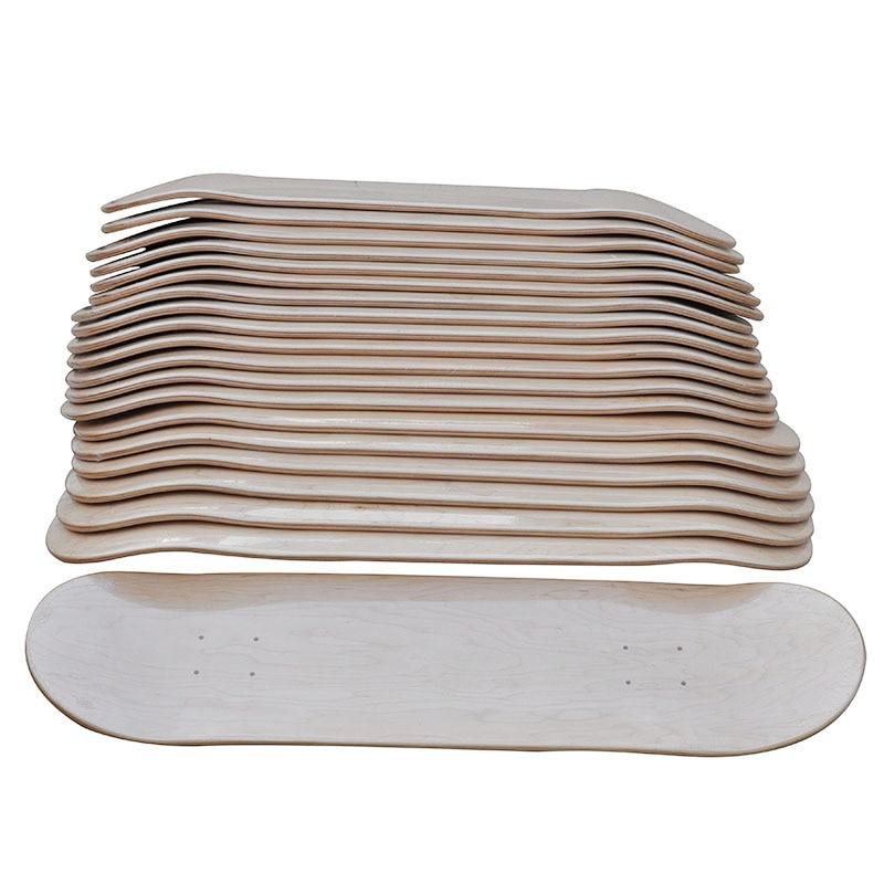 "Image 2 - 8"" DIY Blank Skateboard Decks 10pcs Lot Blank Sakteboard Deck Double Concave Kick Deck 7ply Canadian Maple 8""X31""Double Rocker-in Skate Board from Sports & Entertainment"