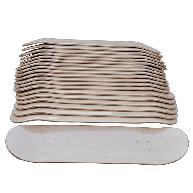 8″ DIY Blank Skateboard Decks 10pcs Lot Blank Sakteboard Deck Double Concave Kick Deck 7ply Canadian Maple 8″X31″Double Rocker