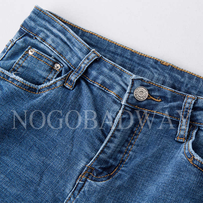 1a48dcb9fe89b6 ... Calf-length vintage women jeans summer 2018 casual fashion denim flare  pants slim skinny ladies