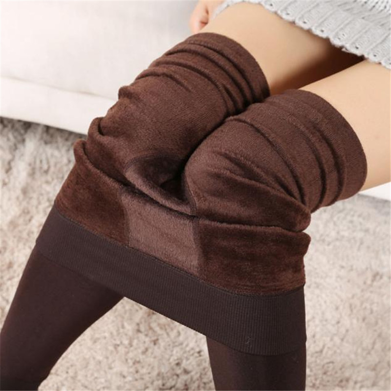 Womail  Lady Winter Warm Legging Thickened Winter Super Elastic Fleece Women Leggings Solid Color dec18J.30