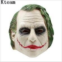 Топ Класс 100% латекс Джокер маска Бэтмен костюм клоуна Косплэй фильм для взрослых партии Маскарад латекса клоун Маски для век для Хэллоуина