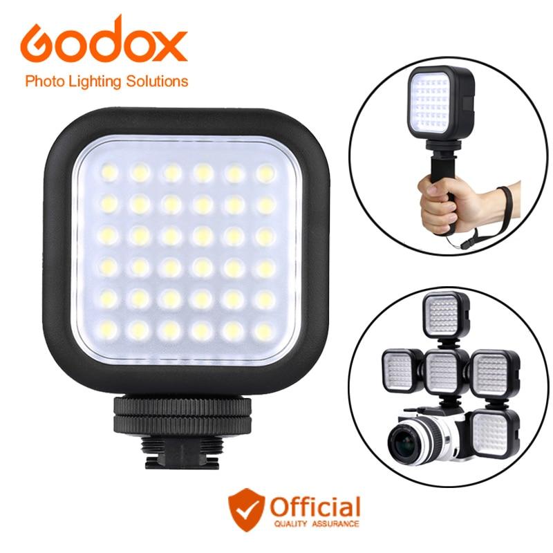 Godox LED36 Vidéo Lumière 36 LED Extérieure Photo Lumières Lampe 5500 ~ 6500 K pour Canon eos 70d 6d Appareil Photo REFLEX NUMÉRIQUE Caméscope DVR accessoires