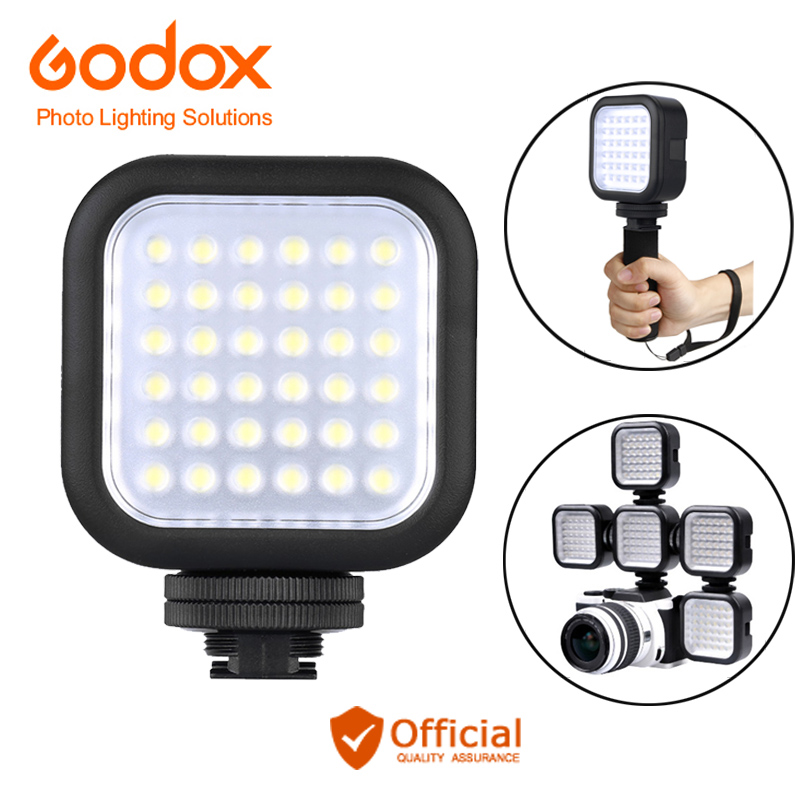 Godox LED36 Video Light 36 LED Outdoor Photo Lights Lamp 5500~6500K for  Canon eos 70d 6d DSLR Camera