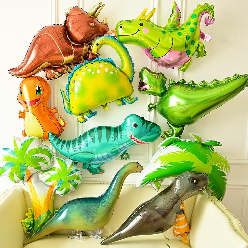 1 шт. гигантский динозавр воздушный шар из фольги для мальчиков воздушные шарики в виде животных для детей динозавр день рождения из фильма ...