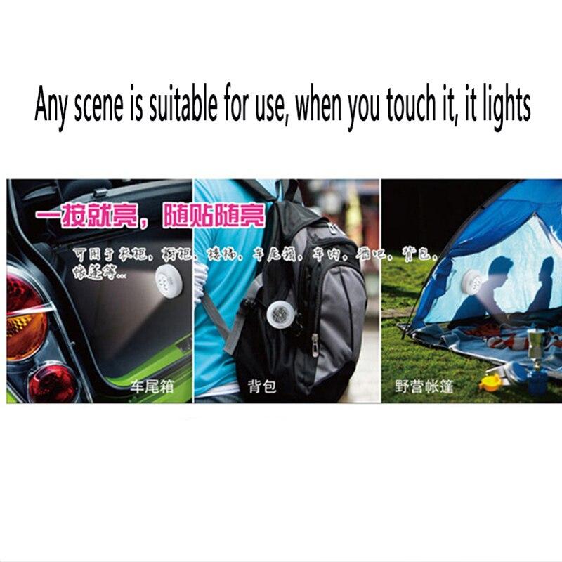ZDPARTS 1X Car Warning Emergency Touch Reading Light 4 LED For Skoda Octavia A5 A7 2 Rapid Fabia Yeti Superb Volvo V70 XC60 XC90