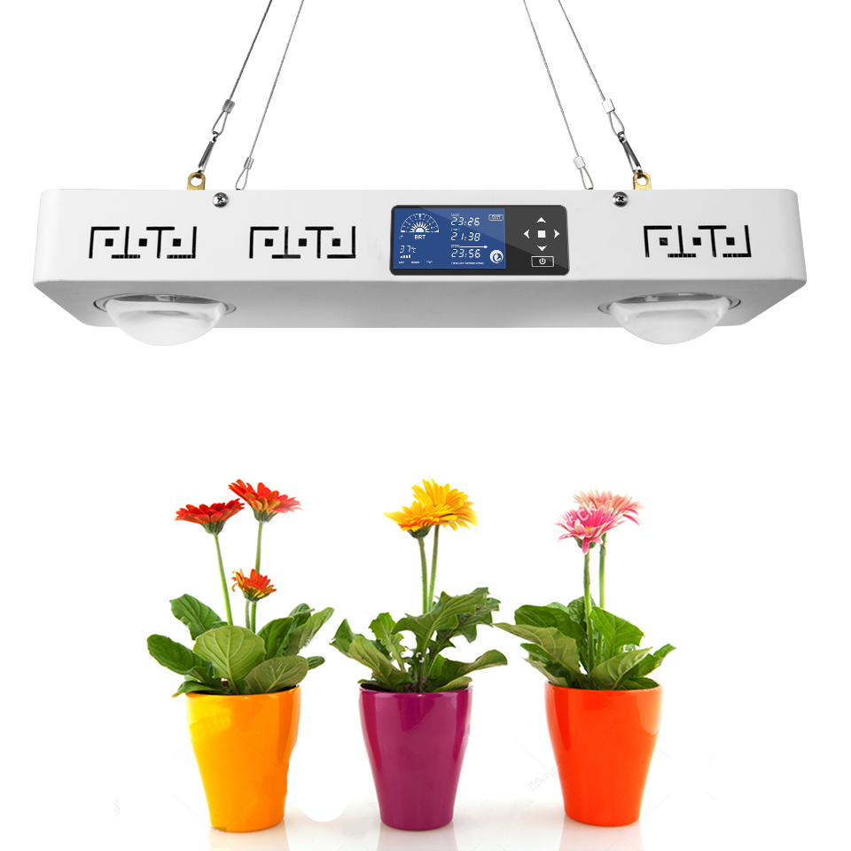Dimmable CREE CXB3590 200W COB LED Grow Light Full Spectrum with LCD Display Timer Temp Control