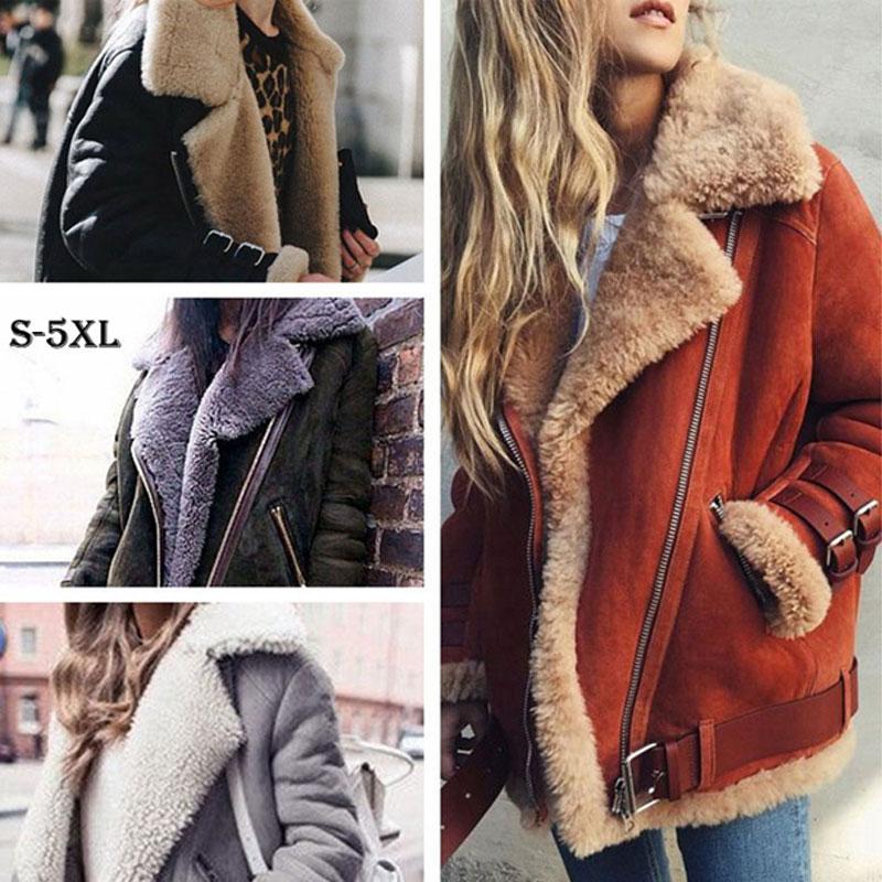הי גרנד חורף מעילי נשים Loose נוהרים חם דק מעיל נשים מזדמן זמש אישה מעיילי קטיפה כותנה Outerwears WWJ930