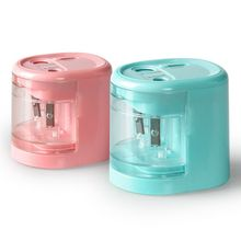 New Creative Automatic Smart Double Hole Electric Pencil Sharpener School Office Stationery Stationery Student Gift стоимость