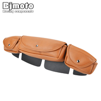 BJMOTO Motorcycle saddlebag 3 Pocket Windshield Bag Fit for Harley FLHX Street Glide Tri Elide FLHXXX Trike Motocross Backpack