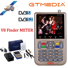 цена на Freesat v8 satellite finder meter Digital HD DVB-S2 High Definition Full 1080P MPEG-4 FTA Receptor with 3.5 inch LCD satfinder