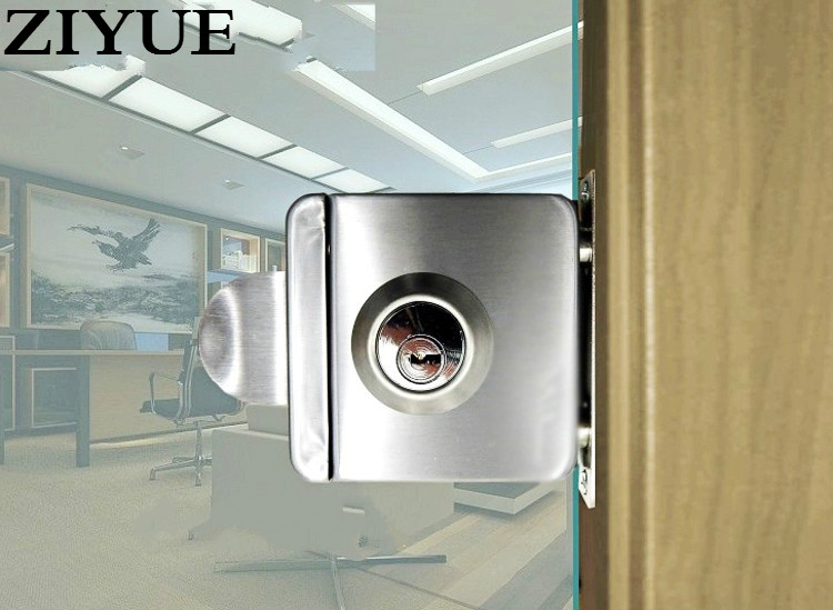 Free  Shipping High Quality Stainless Steel Glass Door Lock For Hotel Office easy install стоимость
