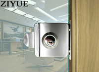 Free Shipping High Quality Stainless Steel Glass Door Lock For Hotel Office easy install