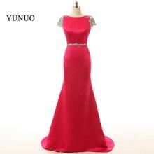 Vestidos De Noite Luxury Evening Dress 2017 Elegant Long Mermaid Evening Dress New Women Red Formal Evening Gown Robe De Soiree