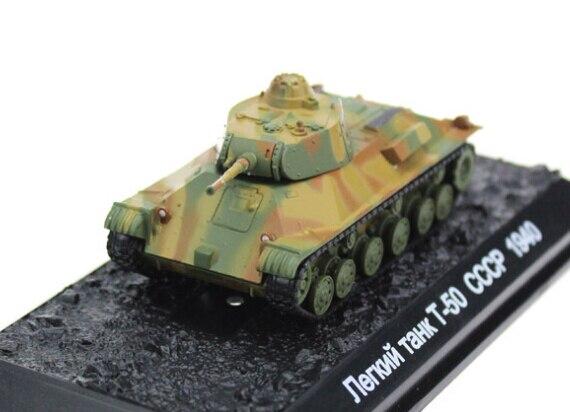 AM 1:72 Soviet WWII T-50 alloy tank model Favorite Scale Model