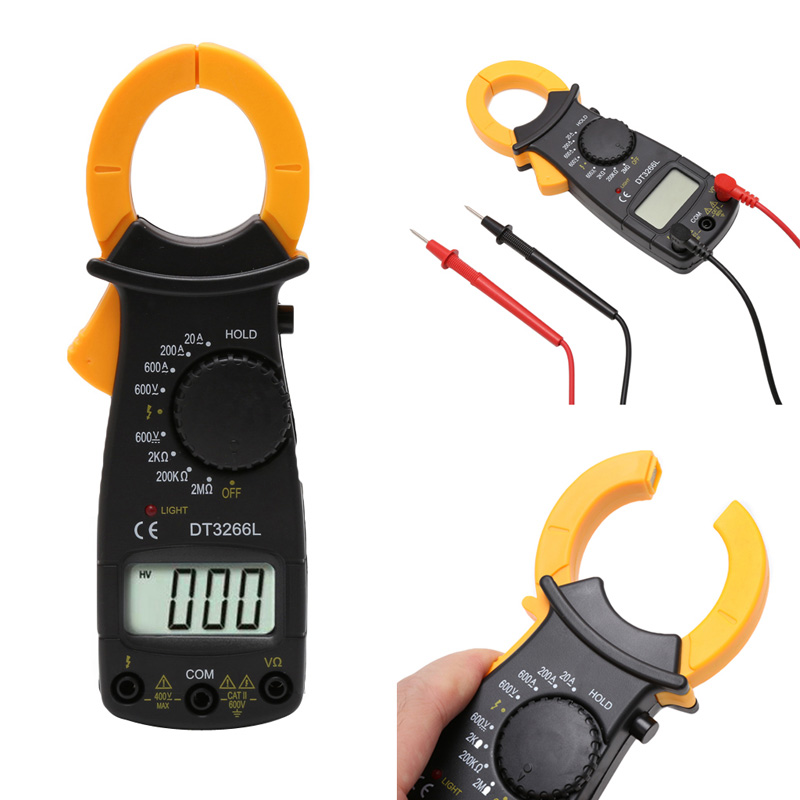 Clamp Multimeter DT3266L LCD Display Digital Multimeter Handle AC Voltage Current Resistance Tester DT3266L multimeter tester elepbaby детское одеяло детское купальное полотенце 115x120cm