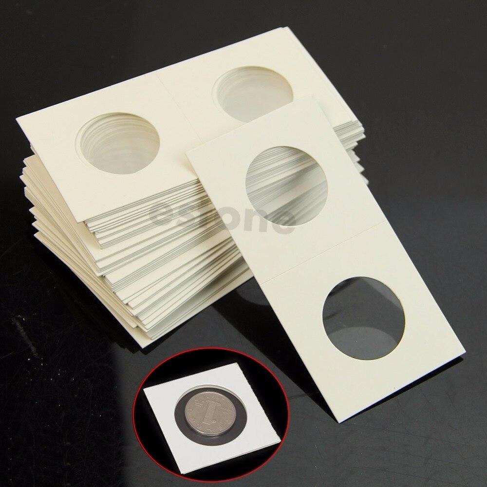 Nouveau phare timbre 50pcs 23mm Etui monnaie Cover Case 2X2 Storage Flip