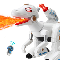 new educational toy Remote Control Robot Dinosaur Toy 360 Degree Rotate Simulation Spray Flame Dinosaur With Bullet kid best gif