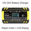 FOXSUR 12V 24V Smart Battery Charger, auto Truck Lood-zuur AGM EFB GEL NAT Acculader, 100-240V AC input