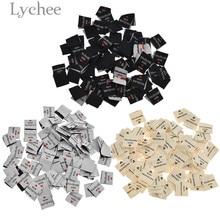 Lychee 100 шт ручной работы с любовью Одежда Этикетки ярлыки с тиснением DIY этикетки типа «флажок» для швейных аксессуаров