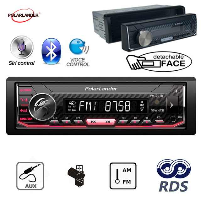 Support Android 7.0 or Above bluetooth 1 din car radio For Iphone Siri Car Multimedia Player Autoradio  AM / FM / RDS Radio