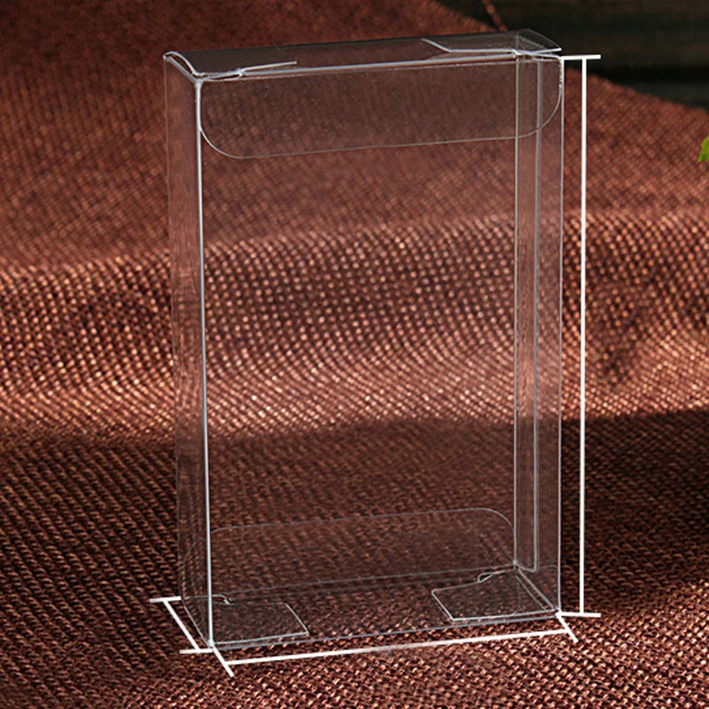 200pcs 2x6x8 jewelry gift box clear boxes plastic box transparent storage pvc box package Display pvc
