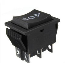 1PCS DPDT 6 Pin Power Window Rocker Switch AC 250V/10A 125V/15A Double Pole Power Switch for Car Boat 1pcs ac 230v 6 4 a ac 120v 12 6 a 5e4 electric power tool plastic speed controller switch fa 8 1fe 6 positions color randomly
