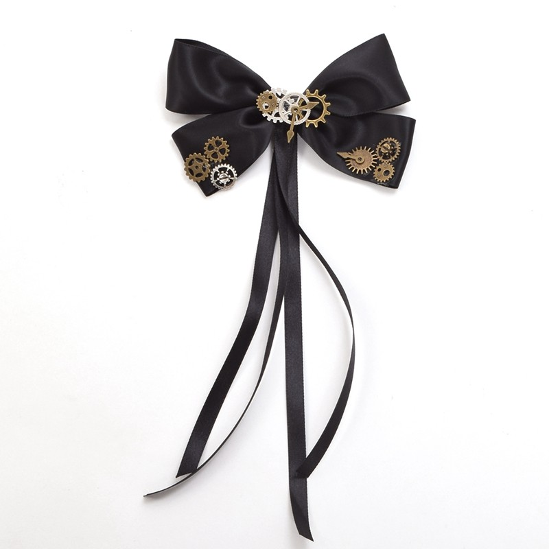bow tie steampunk hair clip