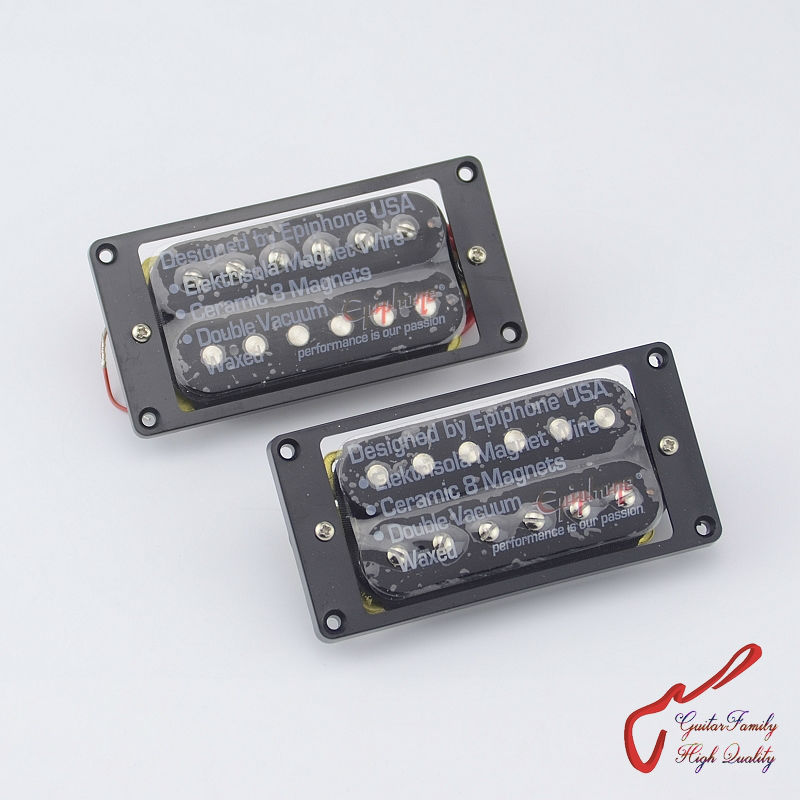1 Set Original Genuine  Epi Electric Guitar High Power Ceramic Magnet Bar Open Humbucker  Pickup  Black MADE IN KOREA belcat bass pickup 5 string humbucker double coil pickup guitar parts accessories black